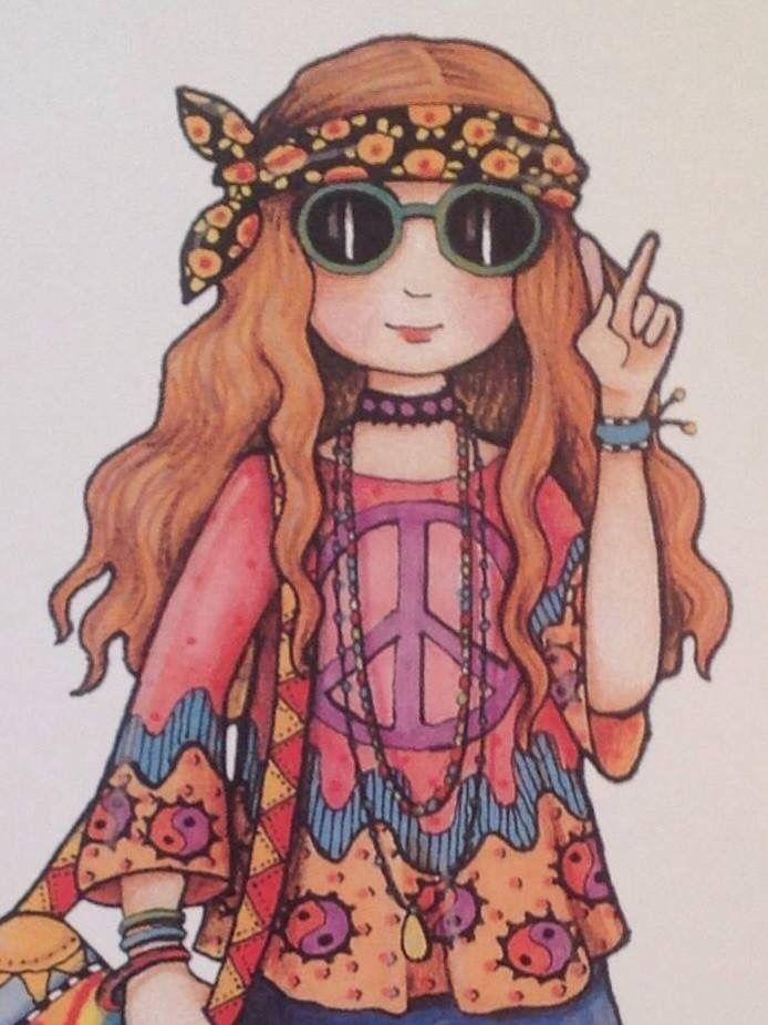 Drawings of hippie girls