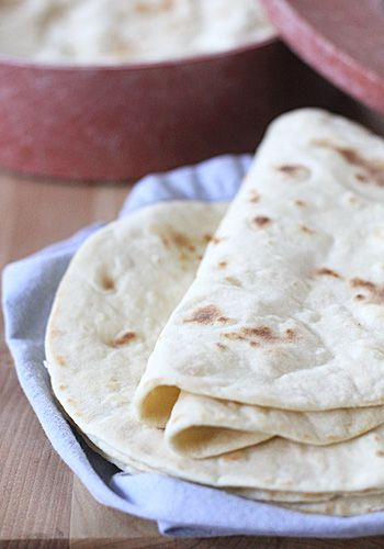 Homemade Flour Tortillas - made these with a GS troup for a badge part. Quick easy bread, and each girl can roll out their own tortilla and it's still edible if it doesn't form quite right!