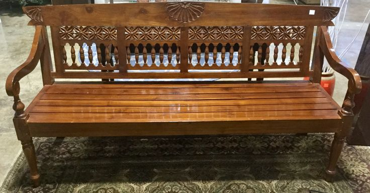 Beautiful Wooden Bench for sale at the Habitat for Humanity ReStore in Rockville! Price: $295