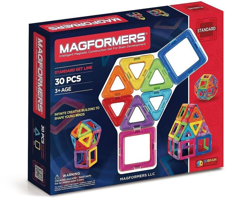 Magformers Magnetic Construction Set For Brain Development - 30 Pc Standard Set: Get it for $29.79 (was $49.99) #coupons #discounts