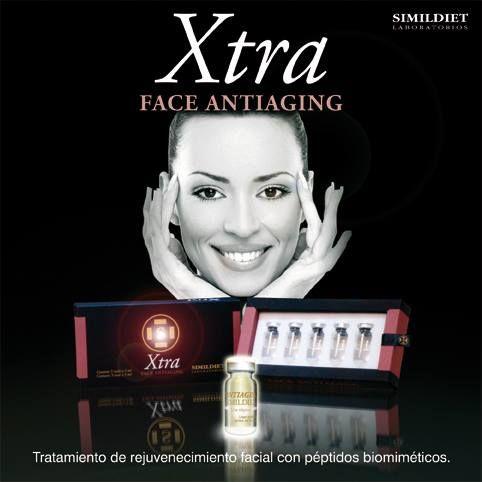 Xtra Face Antiaging, facial rejuvenation treatment with biomimetic peptides!  Xtra Face Antiaging, tratamiento de rejuvenecimiento facial con péptidos biomiméticos.
