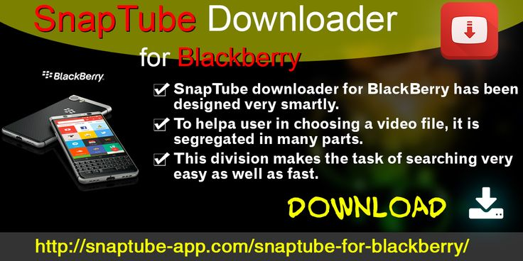 SnapTube downloader for Blackberry allows you to watch and download unlimited online videos from different video streaming sites such as Facebook, YouTube, Instagram, Vevo, Vimeo and many more.