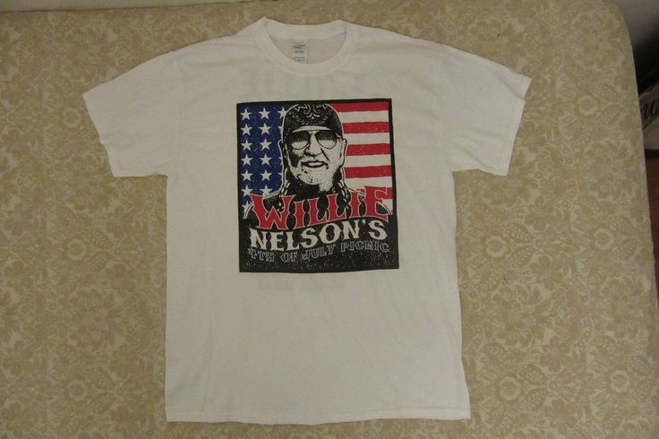 #willienelsons 4th of july #picnic t #shirt #austin, #texas L #Gildan #GraphicTee