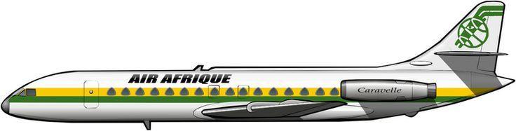 Caravelle de Air Afrique, a comienzos de la década de 1970