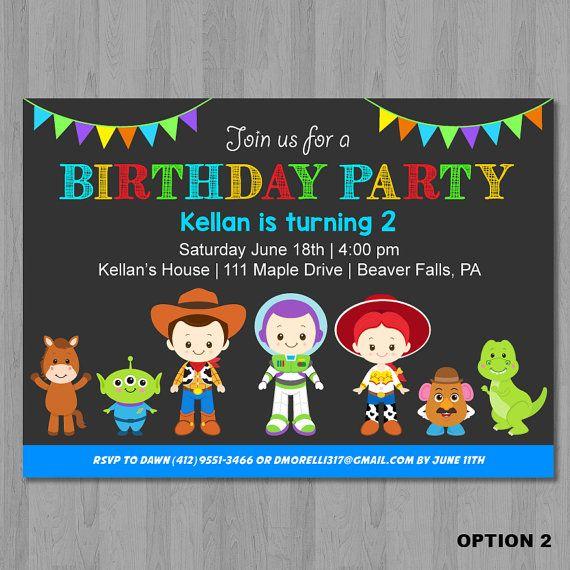 Toy Story Birthday Invitation Toy Story Invitation Toy Story