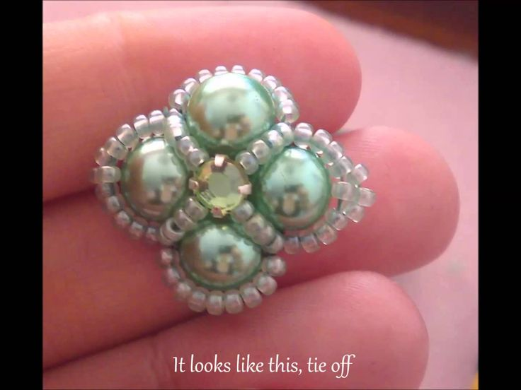 Madame Beaded Ring Beading Tutorial by HoneyBeads (Photo tutorial)
