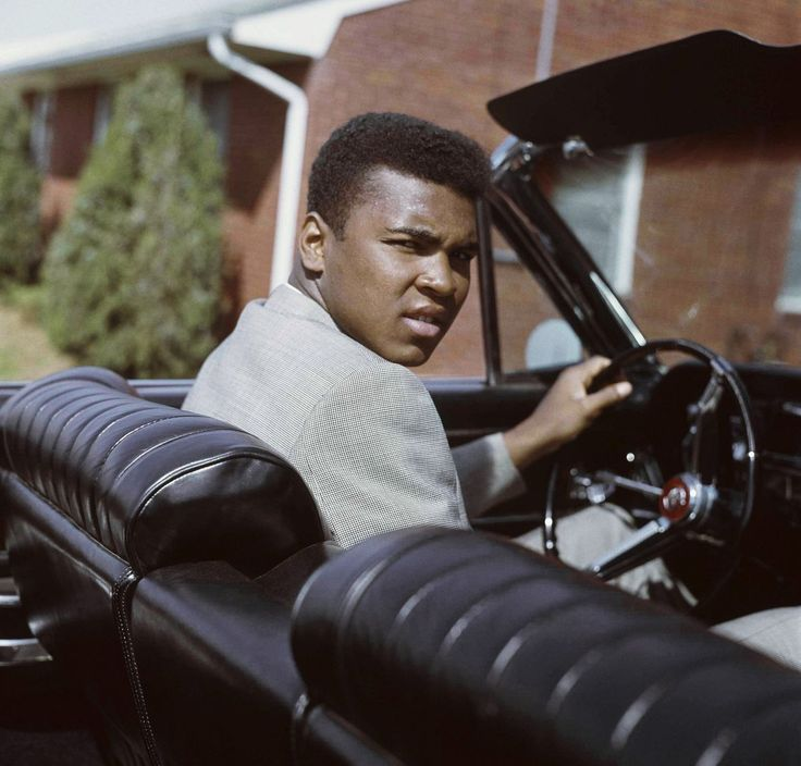 Muhammad Ali with his mother Odessa Clay at their home in Louisville, Kentucky on April 4, 1963.
