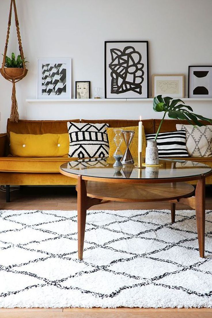 Mid Century Living Rooms Designs Ideas These Midcentury Modern Living Rooms Will Certainly Encourage Living Room Colors Yellow Living Room Cozy Living Rooms