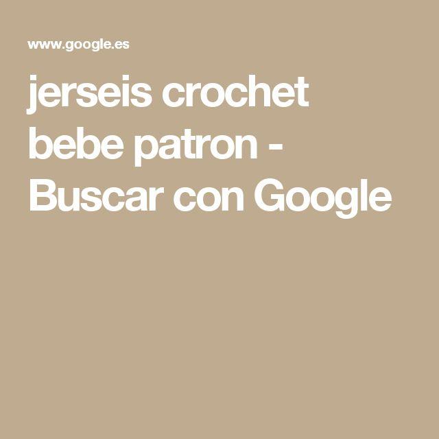 jerseis crochet bebe patron - Buscar con Google