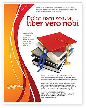 educational brochure templates - a very intelligent and educated higher education flyer