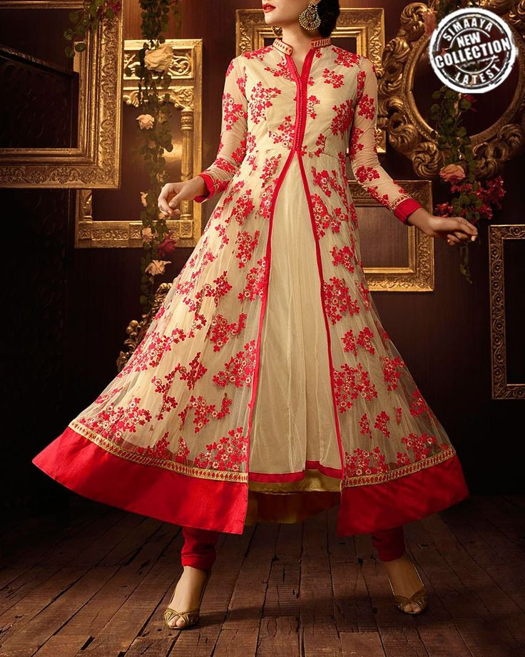 #Eid can be equally charming with this Beige And Red Colour #Salwar #Suit: http://bit.ly/28TQHi4 #Ramzan #Fashion