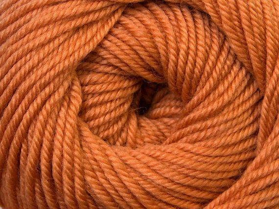 Knit Yarn Wool DeLuxe Light Brown  100 wool by specialyarnshop, $8.90