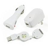 USB Travel Kit with Car Charger, Travel Adapter & Cable for Apple iPod (Electronics)By Hipstreet