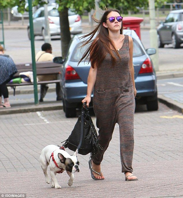 Puppy love! The star, who plays Stacey Slater in the flagship BBC1 soap, looked incredible in her trendy get-up - a far cry from her character on Albert Square