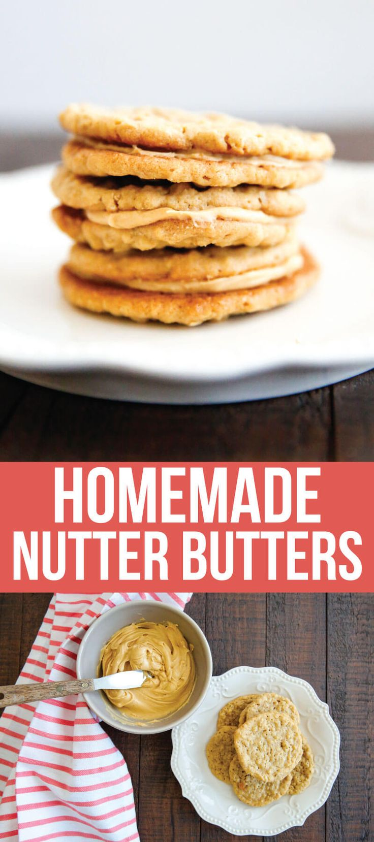 Homemade Nutter Butters- these cookies are like whoopie pies with all things peanut butter. They melt in your mouth!  I made this recipe while listening to a favorite book on @audible! #AD
