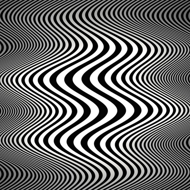 Op art waves (Tribute to Bridget Riley) by Marco Braun, via Flickr