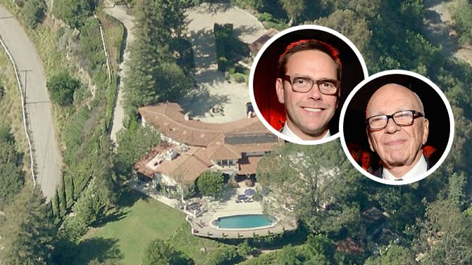 James Murdoch Buys Father Rupert's #BeverlyHills Estate