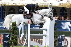 Hamburg 2014 Gallery - LONGINES GLOBAL CHAMPIONS TOUR - Roger-Yves Bost leads the way in the Mercedes Cup