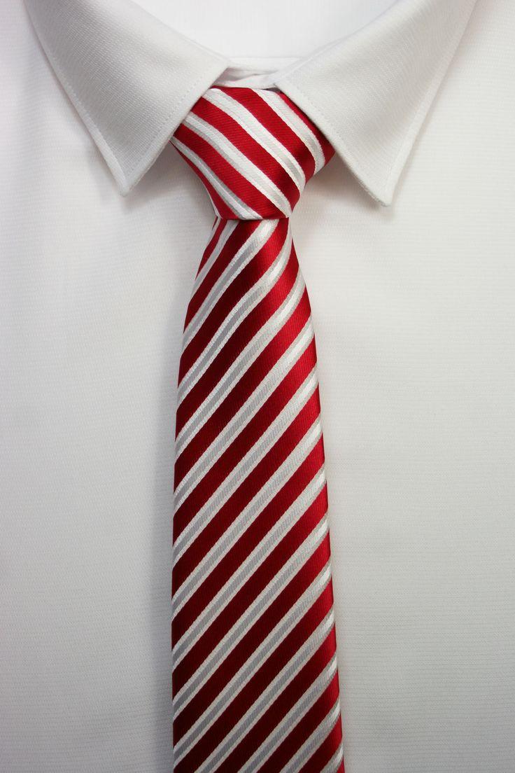 corbatas rayas rojas www.corbatasygemelos.es