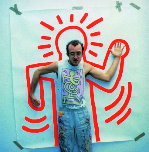 maybe a collaborative class project. Everyone can Keith Haring themselves