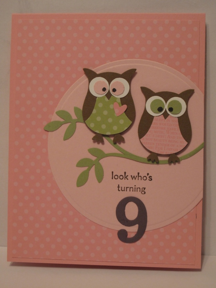 card and the owl is perfect for Kale's Owl