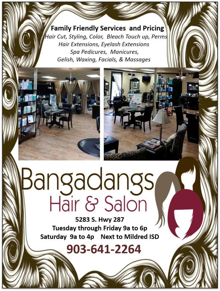 Family Friendly Services and Pricing    Hair Cut, Styling, Color, Bleach Touchup, Perms  H... | Bangadangs Hair and Salon, LLC - Corsicana, TX #texas #FairfieldTX #Thornton TX #MexiaTX #GroesbeckTX #shoplocal #localTX