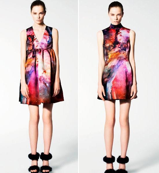 Christopher kane galaxy dress long