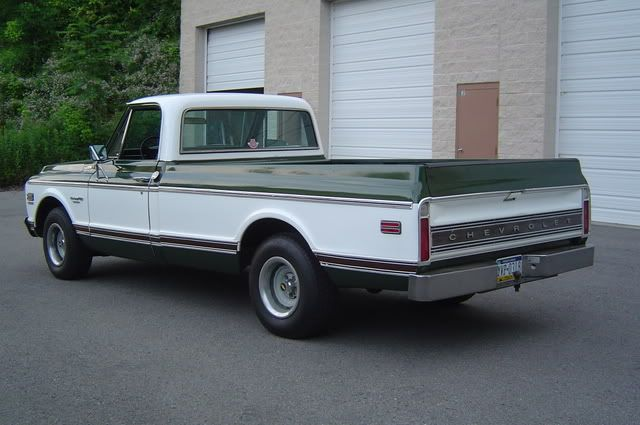 Image Result For 69 Gmc Green And White With Images Chevy