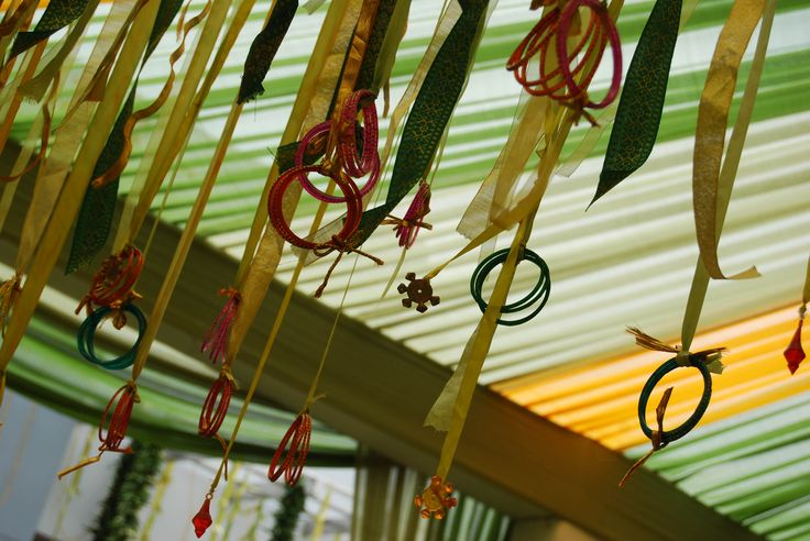 Colourful Bangles Dangling From Pretty Ribbon Pasupu