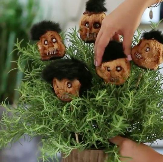 how to make dried apple shrunken heads creepy halloween decorationsautumn
