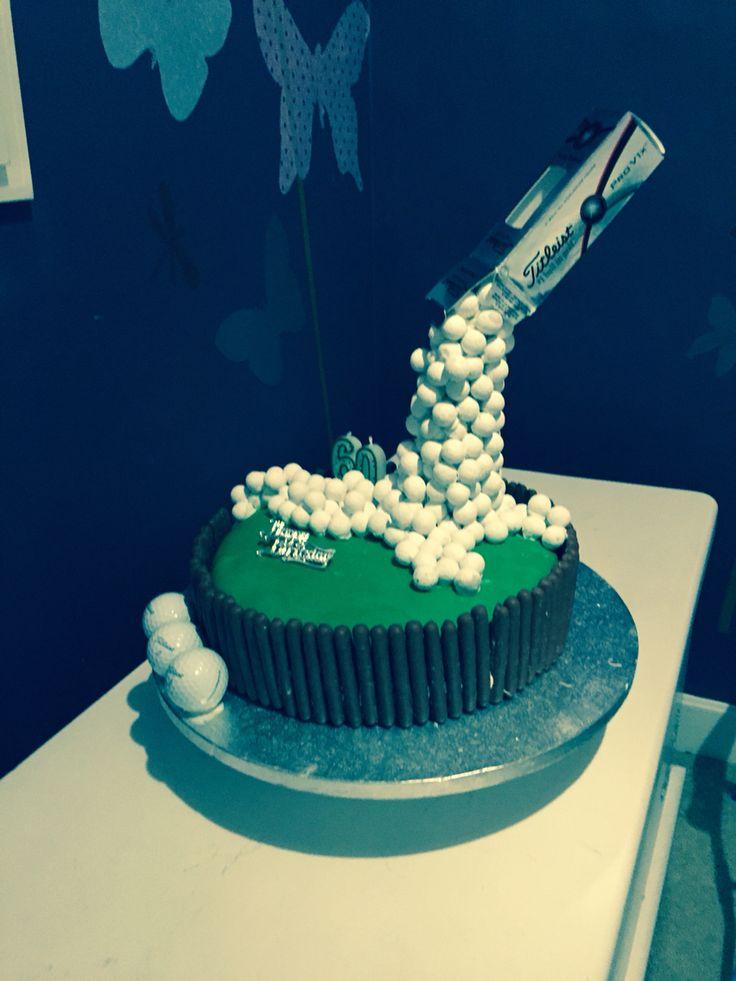 40th Birthday Golf Anti Gravity Cake My Makes