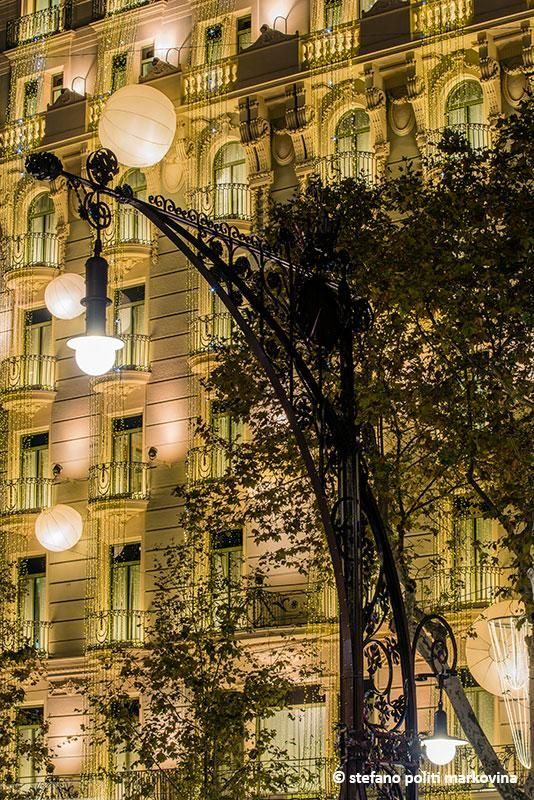 Barcelona, Catalonia - the street lights on Passeig de Gracia