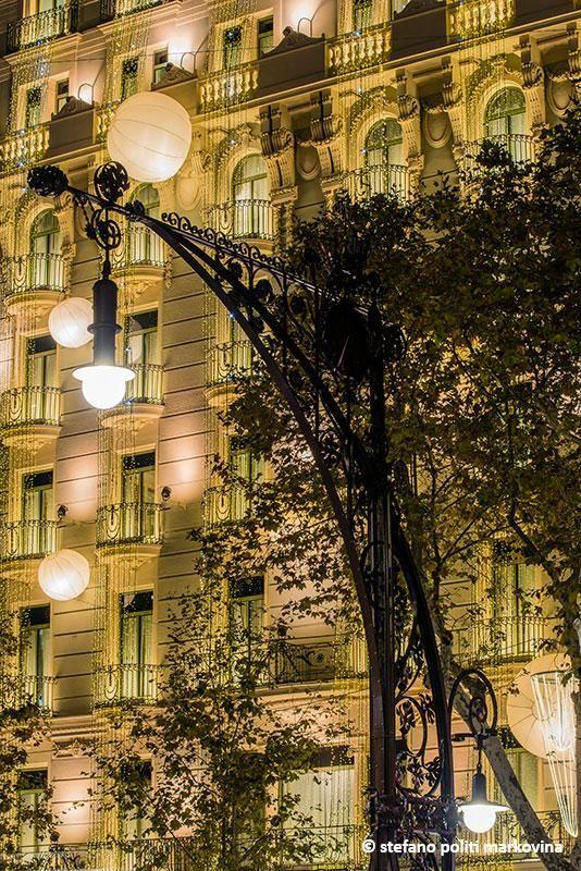 Barcelona, Catalonia - the street lights on Passeig de Gracia
