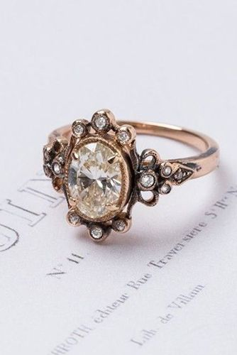 We Dare You Not To Love These 24 Vintage Engagement Rings - Reverie  This one in white gold would be perfect