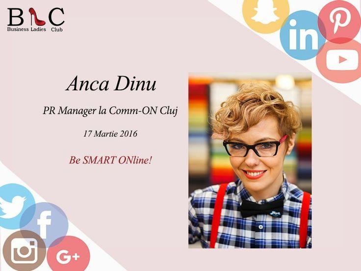"""Anca Dinu, PR Manager la Comm-ON PR&Communication Agency, va fi alături de noi la cea de-a IV-a ediție a evenimentului """"Lady Today, Business Lady Tomorrow"""". (https://goo.gl/JQyaH2)  Când şi unde? 17 martie 2016, The Office - Cluj-Napoca  Înscrieri? http://www.businessladiesclub.com/inscrieri/  #BeSMARTONline"""