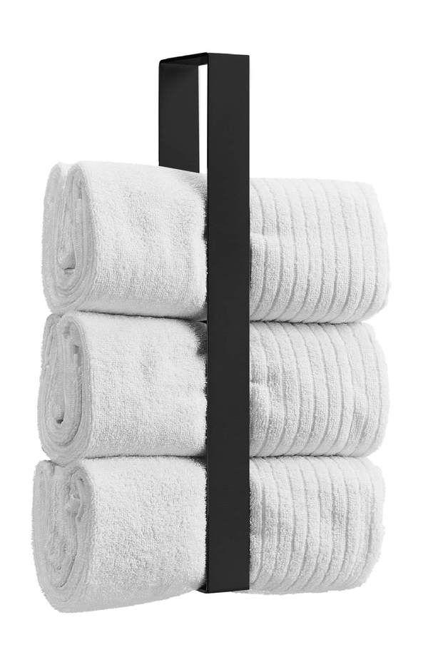 Handtuchhalter senkrecht in schwarz Edelstahl 45cm