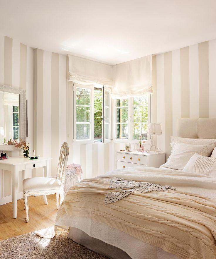 Best 25 beige bedrooms ideas on pinterest beige bedroom - Habitaciones con papel pintado ...