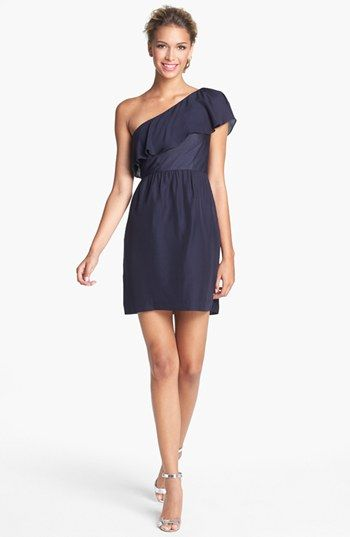 Date night dress~  Inspiration to lose the baby weight  Jenny Yoo 'Lulu' Ruffled One Shoulder Sheath Dress available at #Nordstrom
