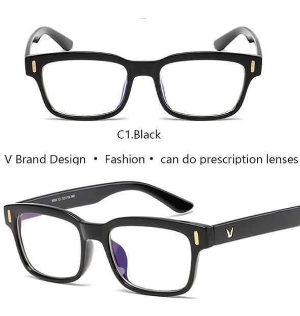 Ivsta Square Glasses Men V Eyeglass Frame For Men Brand Designer Vintage Demi Blue Shadow Eyewear Myopia Degree Nerd Optical Eyeglass Frames For Men Square Glasses Eyeglasses Frames