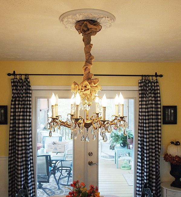Dining Room Decorating Autumn Changes I Made Chandelier Chainchandelier Ideascord Coverdining