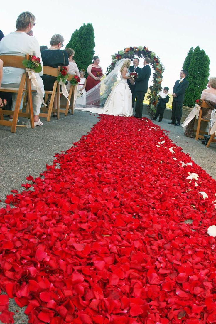 red wedding theme wedding aisle httpsimpleweddingstuffblogspotcom