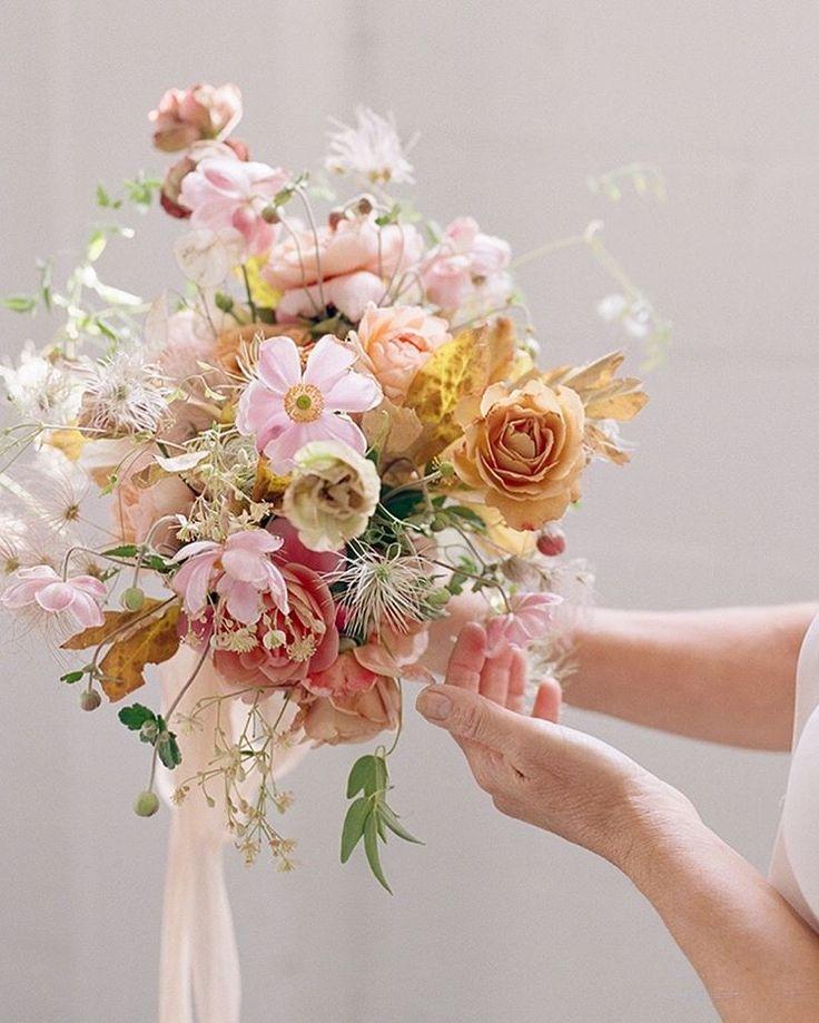 Inspiration for springtime. Photography @heathernan, floral design @soilandstem, bouquet silk ribbon @thepoetryofsilk.