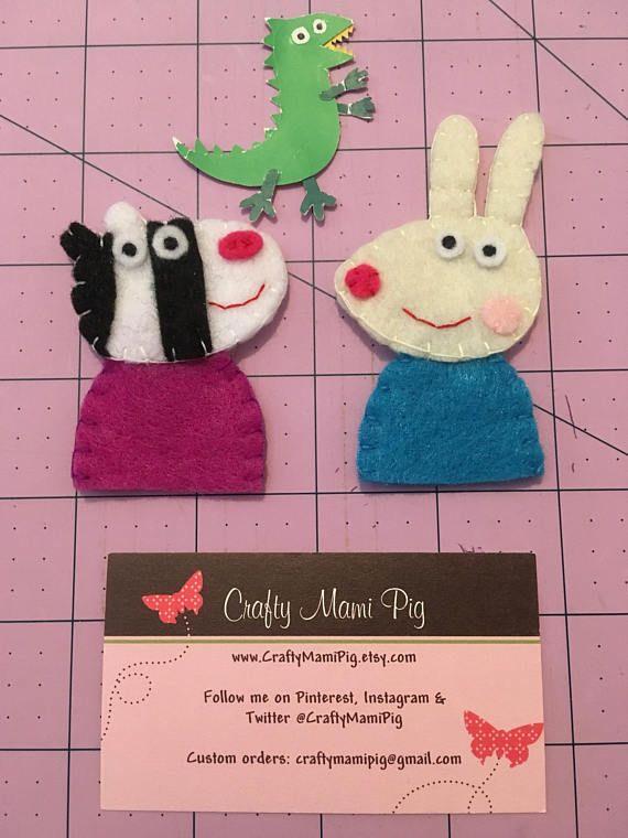 Peppa Pig Finger Puppets Set Emily Elephant Candy Cat Zoe