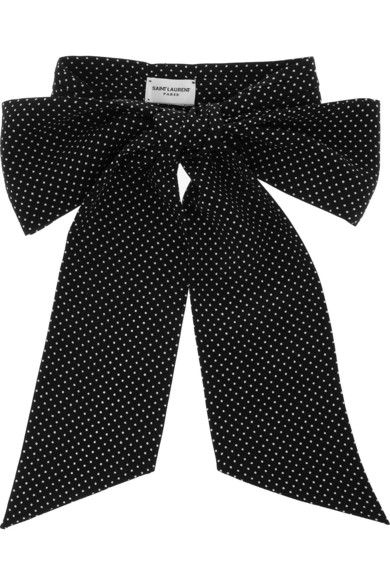 Saint Laurent silk bow tie (more not-so-average accessories here http://chicityfashion.com/unconventional-accessories/)