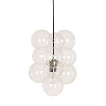 The DIY pendant from the Danish brand House Doctor has quickly become remarkably popular. The lamp is created with 12 glass balls with a silver covered socket hanging in a playful way. The lamp is minimalistic in its simplicity yet with a modern and futuristic touch. It fits perfectly over the dining table or in a dark corner where you want to add some extra light. Don't forget to take a look at the other products from House Doctor.