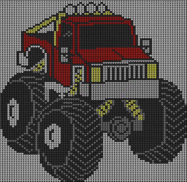 Ravelry: Monster truck jumper knitting pattern pattern by irene court