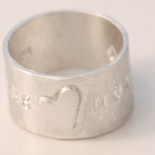 Lukas & Moa hammered ring