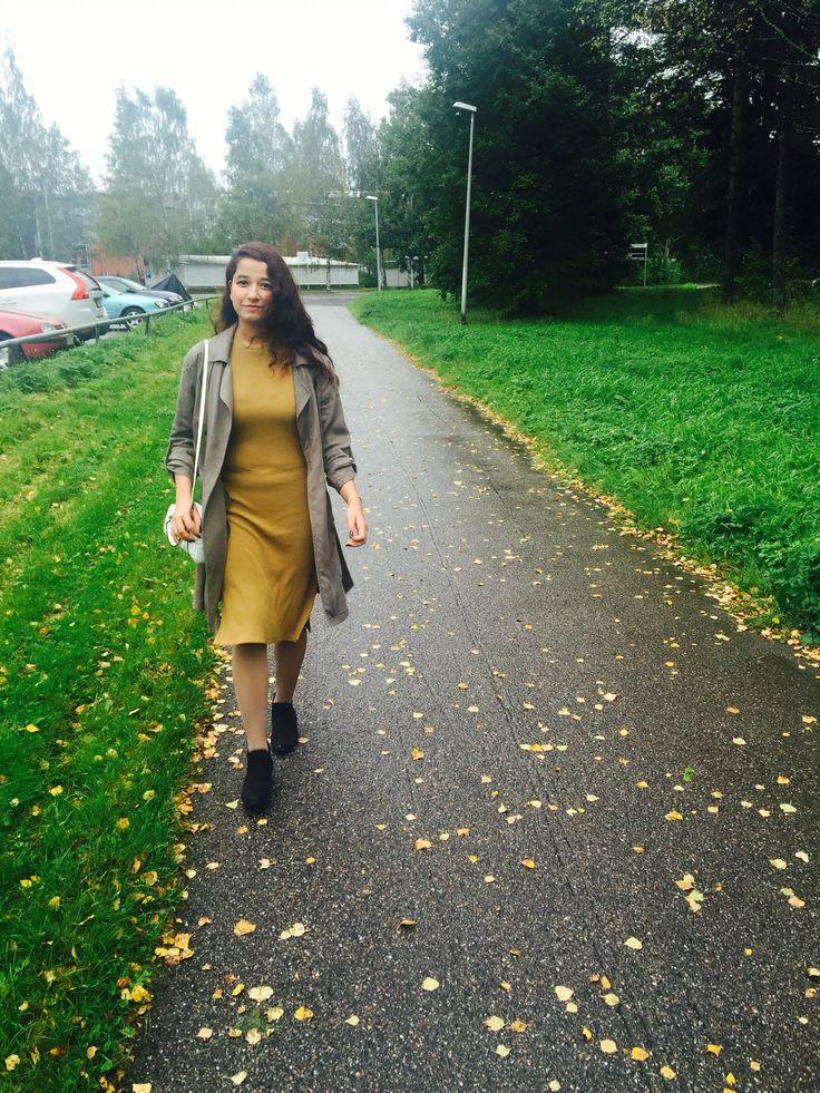Coat: Cubusofficial Pencil Skirt: Hm Ankle boot: skopunkten