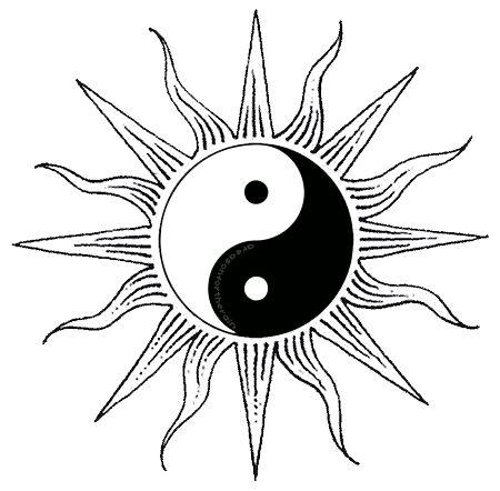 ✪☯☮ॐ American Hippie Psychedelic Art ~ Yin yang sun