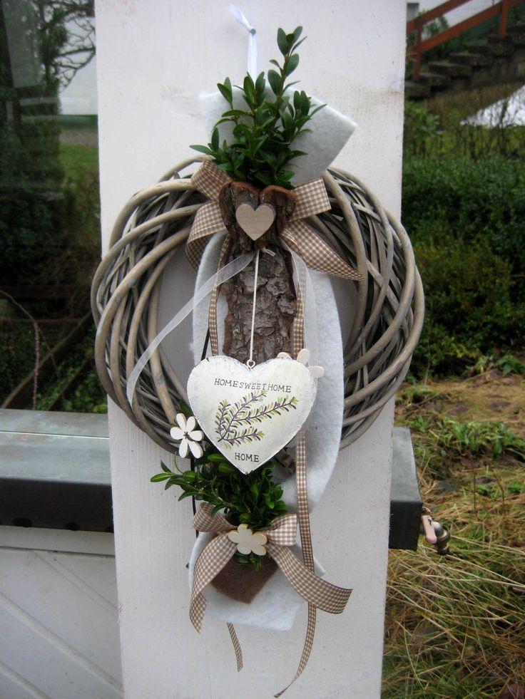 XL shabby vintage country house door wreath, interior and exterior decoration, gift idea   – Türkränze
